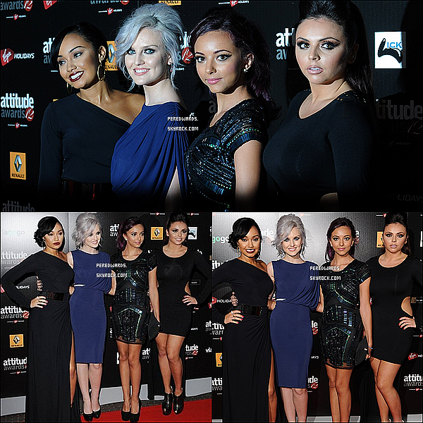 ". Le 16 octobre 2012 ~ Les Little Mix ont assité au ""Attitude Magazine Awards"" à Londres. ."