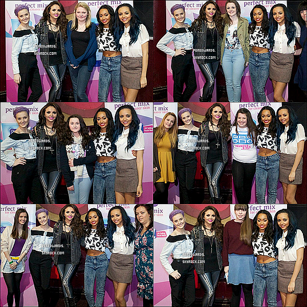 06 Février 2013 : Les Little Mix, quittant la radio real à  Manchester.