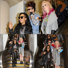 . Le 22 mars 2013 ~ Les filles ont été photographiées en arrivant à l'aéroport LAX à Los Angeles..