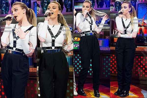 "Le 4 février 2014 ~ Les Little Mix étaient à l'émission ""Watch What Happens Live"" à NY."