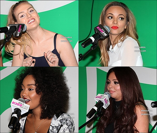 Le 14 mars 2014 ~ Les Little Mix étaient à la radio  Kiss FM 103.5  à Chicago.