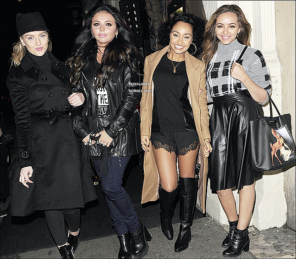 Le 6 novembre 2014 ~ Les Little Mix quittaient le  Mahiki Club à Londres.