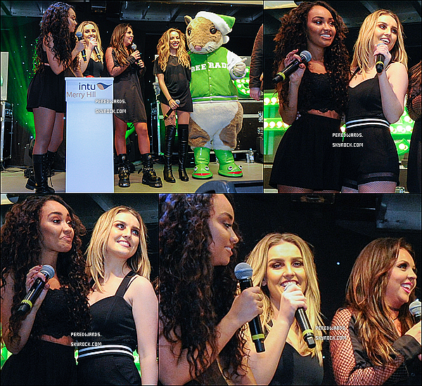 Le 14/11/2014 ~ Les LM ont chanté dans la centre commercial Intu Merry Hill à Brierley Hill.