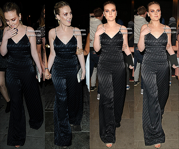Le 25 février 2015 ~ Perrie Jade et Leigh arrivant à l'after party des Brit Awards.