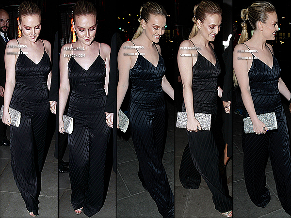 Le 25 février 2015 ~ Perrie quittant l'after party des Brit Awards à Londres.