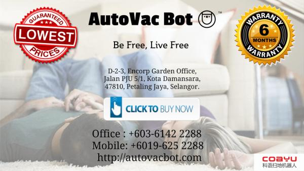 Money Back Guarantee Coayu Robot Vacuum AEON Taman Equine