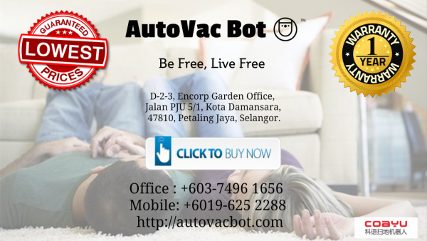 Coayu Robot Vacuum Uptown Damansara  Rebate