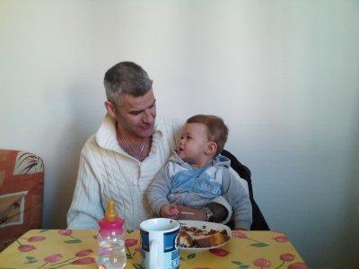 mon fils et son papi