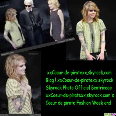 Fashion Week End  Coeur de pirate