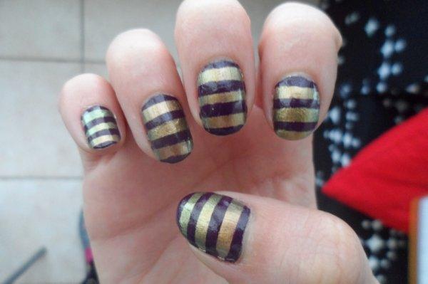 Rayé or et violet