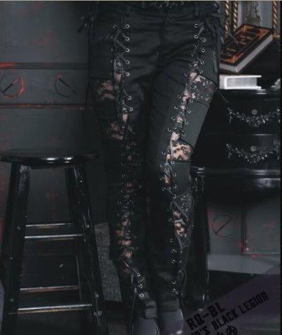 Pantalons noire et dentelle