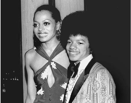 Michael et Diana Ross en 1973