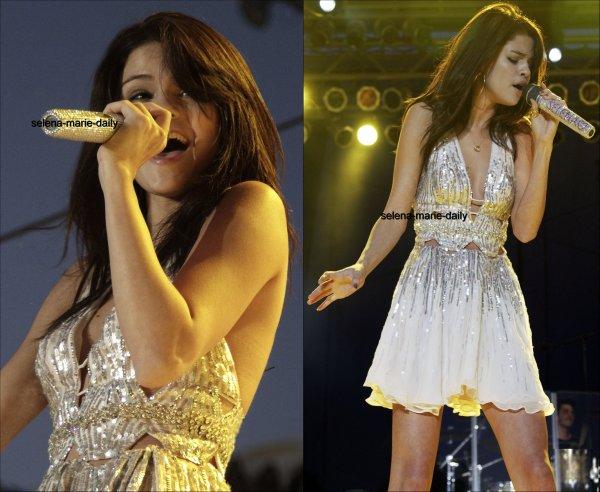 Le 25 juillet, Selena a donné un concert à Paso Robles en Californie.