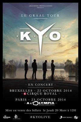 KYO : Le Gaal Tour Billets Disponibles