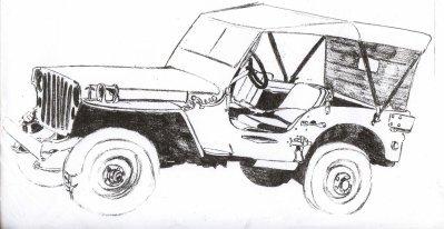 Ma 1ère jeep auxquel ai démarré la série du thème Blindés de la 2nd guerre mondiale