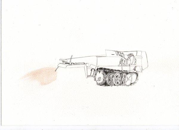Reprise Blindés en Cours (Le SD-Kfz 251) 1er chenillé Allemand
