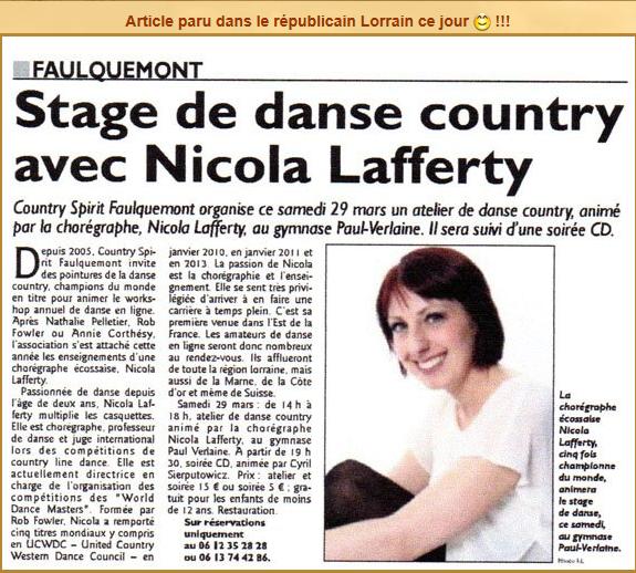 FAULQUEMONT A L'HEURE DE LA COUNTRY  ( 3/5 )