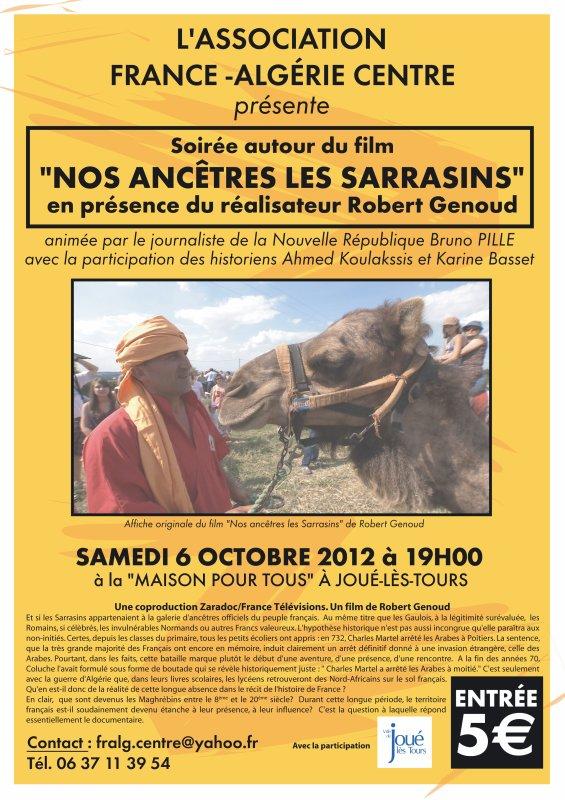 Prochaine soirée de l'assocation projection du Film Nos Ancêtres les Sarrasins du réalisateur Robert Genoud ...
