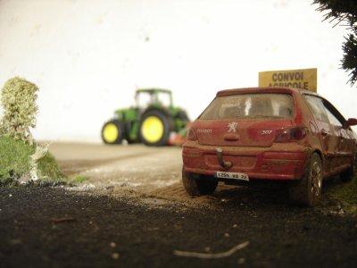 Préparations des terres à maïs .