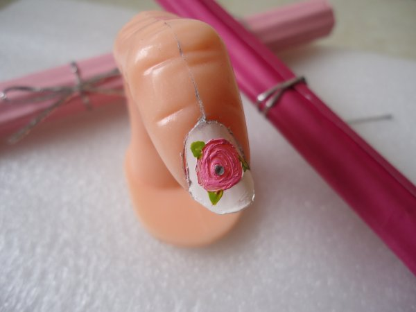 Ongles '' Une Rose ''