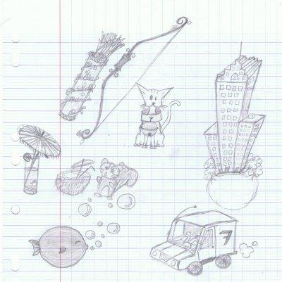 les cours d'anglais se métamorphose en cour de dessin  ^_^