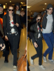 """- 28 Août 2010 : Kristen essayant de se frayer un chemin à l'aéroport pour quitter l'Argentine toujours pour  """"On the Road"""" -"""