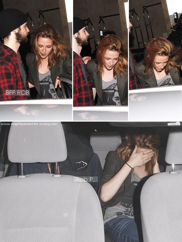 - Elle & encore et toujours avec Robert Pattinson  ... mais ils ne sont pas en couple... mouais ! -