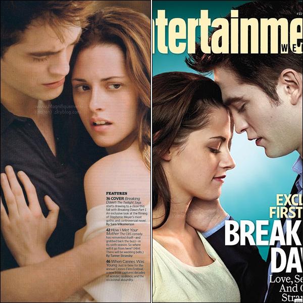 -  Voilà la couverture d'Entertainment Weekly & comme promis les stills de Breaking Dawn.  Pour voir les autres stills de B.D c'est ici :  #1 ;  #2(ça ce complétera aufur& à mesure) -