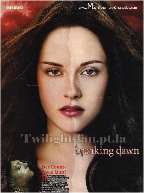 Kris Stewart - Bella Swan.__T'es plutôt l'humaine maladroite ou la vampire déglingué ?  Jvous demande pas ce que vous êtes dans la vie. Je demande seulement si vous préférez Bella en vampire ou humaine.