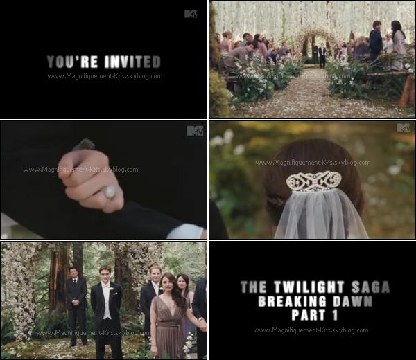Celui-ci est vraiment le trailer officiel de Breaking Dawn . Savourez les quelques secondes d'éxitation.