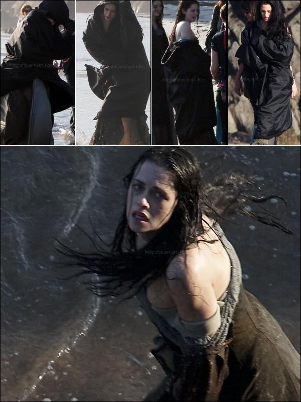 """27/09/11 : Kristen Stewart commençait le tournage de son nouveau film : """"Blanche Neige et le chasseur""""."""