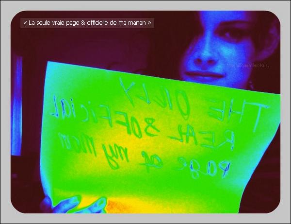 """Kristen ce la jouant """"bling bling"""" en soutenant la page FaceBook de création à sa môman. J'y pense. Elle est maline la mère Stew. Sa fille lui fait une sacrée pub.Fallait y penser, bien jouée M'dame."""