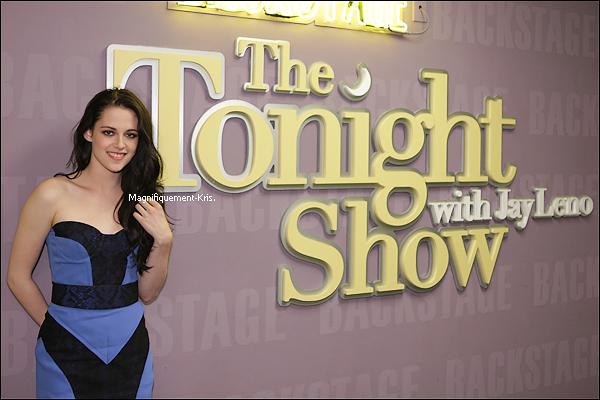 03.11.2011: Dans la soirée, Kris était au « The Tonight Show with Jay Leno ». Vidéo: 1 - 2