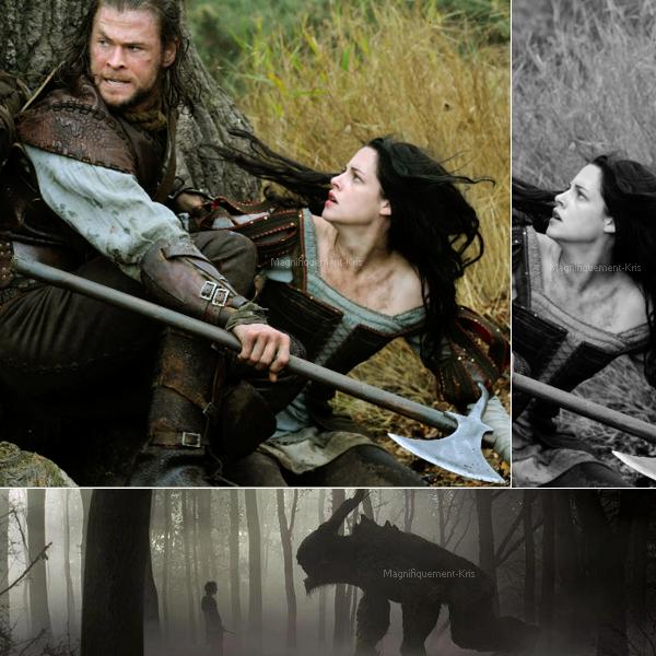 Deux nouveaux stills du dernier film de la Stewart : Blanche Neige et le Chasseur qui se fera en 3 volets.