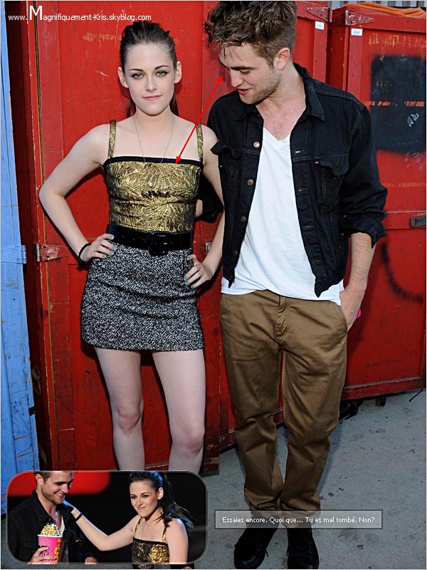 Robert Pattinson ou le gars qui est d'une discrétion totale. - Petite chanceuse Stewart.