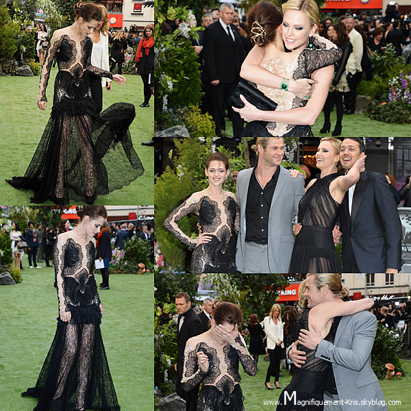 Evénement.   Lundi 14 mai : Kristen Stewart et le reste du cast étaient présent à la première mondiale de Blanche N.