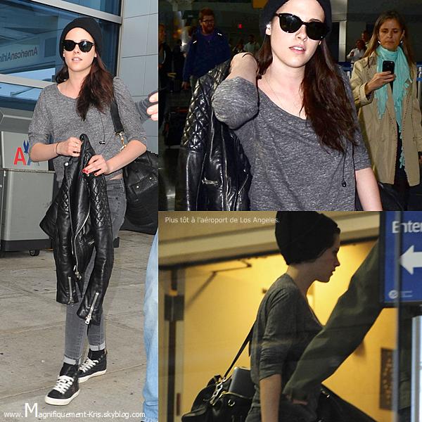 """Candid + Événement.   Mercredi 30 mai : Kristen était à l'aéroport JFK avec son trop beau pull et son bonnet de maçon. Jeudi 31 mai : Stewart était aujourd'hui au """"The Today show"""" à NY encore et toujours pour la promotion.."""