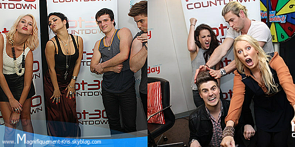 Vanessa Hudgens ou Kristen Stewart au Hot 30 Countdown' Radio? Pourquoi?