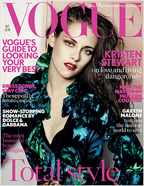 Photoshoot & Co.   Kristen Stewart faisant la couverture de Vogue UK et un extrait du shoot. - Sublime.
