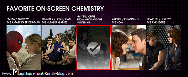Les People's Choice Award 2013 auront lieu le 09 janvier 2013.VOTEZ!