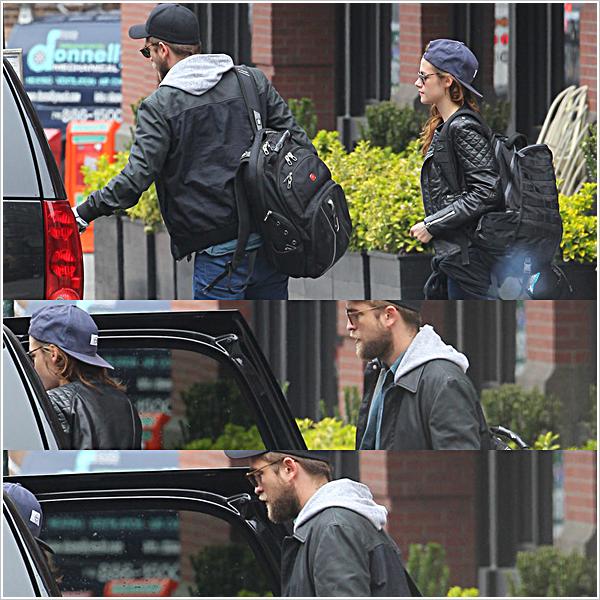 Candid|Robsten ont été surpris quittant leur hôtel &regagnantl'aéroport JFK à NY.  08'05'2013