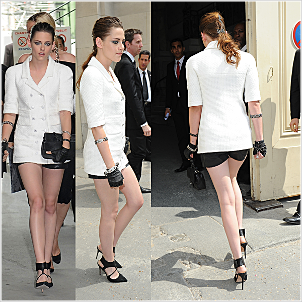 Evènement  |  PARIS  |  Fashion Week  |  02-07-2013     Kris s'est rendue se matin au défilé Chanel Fashion Show pour  la Fashion Week.