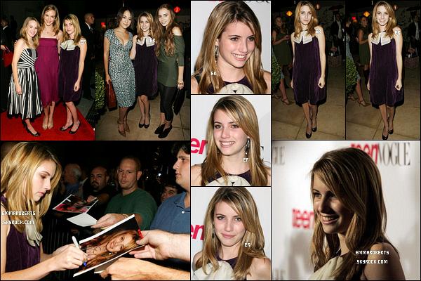 20/10/2006 : Emma, comme d'autres célébrités, s'est rendue à une soirée organisée par Teen Vogue, à LA.