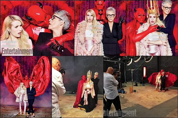 Voici le photoshoot d'Emma, Jamie et du Red Devil pour Entertainment Weekly. On peut voir que les deux actrices s'amusaient comme des folles avec le Red Devil. Em est une nouvelle fois magnifique dessus !