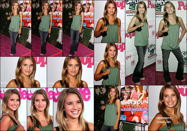 13/08/2005 : Emma au Teen People Celebrates 2nd Annual Young Hollywood Issue Sponsored by EA Games.