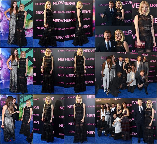 12/07/16 : Emma s'est rendue à la première du film Nerve dans lequel elle a le rôle principal, dans New York. Les autres membres du casting étaient également présents comme Dave Franco à qui elle donne la réplique. J'ai hâte de voir le film ![/font=Arial]