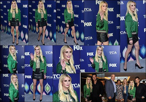 08/08/16 : Emma R. a posé sur le red-carpet des FOX 2016 Summer TCA All-Star Party, dans Los Angeles. Accompagnée du cast de la série Scream Queens, la belle a foulé le tapis rouge de cet event. Elle a également posé avec des stars.