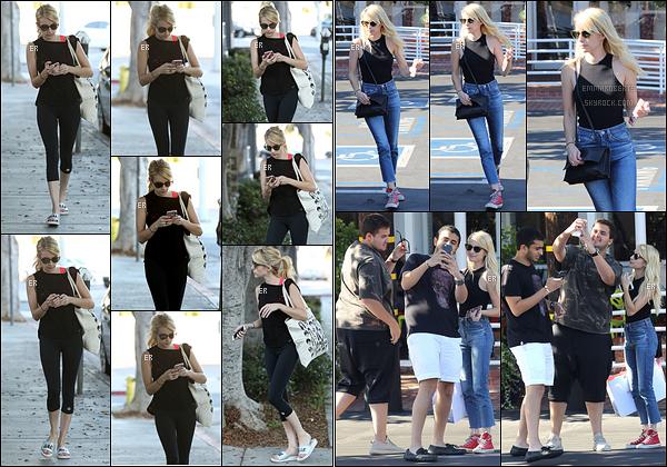 17/08/16 : Emma Rose Roberts a été aperçue quittant son cours de sport dans les rues de West Hollywood. Elle a ensuite été vue posant avec des fans dans les rues de Los Angeles. Quelle est adorable notre starlette ! Un top pour elle.[/font=Arial]