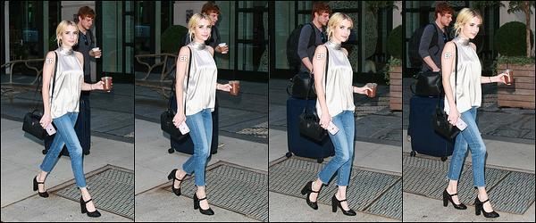 14/09/16 : Miss Emma a été aperçue quittant les studios du Today Show où elle a été invitée, dans New York. Vous pouvez retrouver la vidéo de son passage en cliquant sur ce lien. Elle y a fait la promotion de la seconde saison de Scream Queens.[/font=Arial]