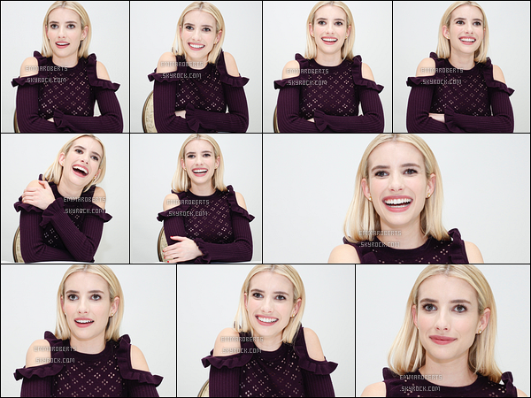 Le 07 Octobre, Emma s'est rendue à la conférence de presse pour Scream Queens.
